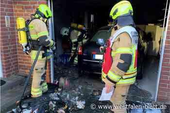 Paderborn: Mülltonne brennt in einer Garage