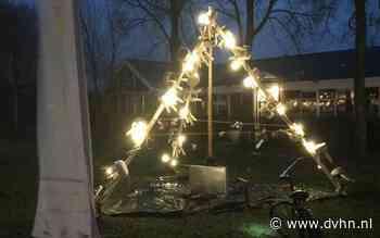 'Krukjeskerstboom' op Schiermonnikoog ter nagedachtenis aan containerramp