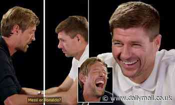 Liverpool legend Steven Gerrard says he hates Everton and Man Utd as he faces quickfire questions