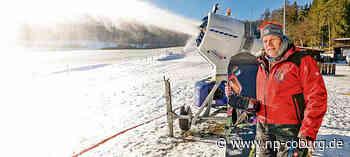 Am Neujahrstag läuft der Skilift in Neukirchen