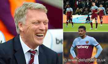 What is in David Moyes' in-tray after his return to West Ham?