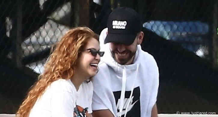 Shakira & Gerard Pique Are All Smiles at Sons' Soccer Practice