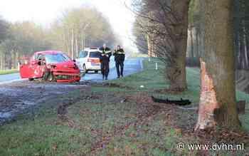 Auto botst tegen boom langs N368 bij Blijham