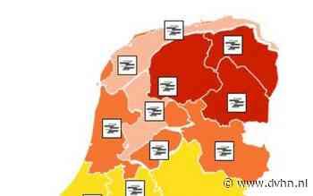 KNMI meldt alsnog Code Rood voor Drenthe, Groningen en Friesland