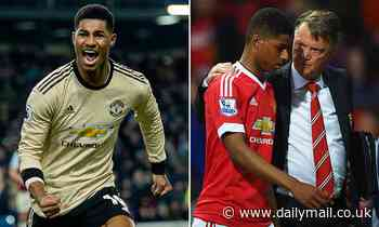 Marcus Rashford hails former Man Utd boss Louis Van Gaal for playing a key role in his development