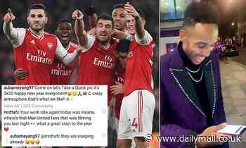 Aubameyang takes swipe at Man United fans after supporter said he would be in Phil Jones' pocket
