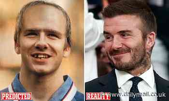 The hilarious 1998 image that predicted David Beckham's looks in 2020… and it's not very flattering!