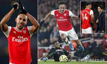 'I'm 100 per cent here': Pierre Emerick-Aubameyang eases Mikel Arteta's fears over Arsenal departure