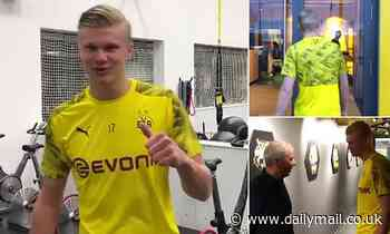 Erling Haaland arrives at Borussia Dortmund for first day after Norwegian starlet's £17million move