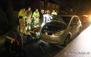 Kat klem in aandrijfas auto in Hoogezand en meegesleept tijdens rit
