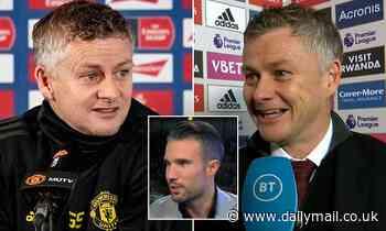 Ole Gunnar Solskjaer hits back at Robin van Persie after ex-Manchester United striker slammed boss
