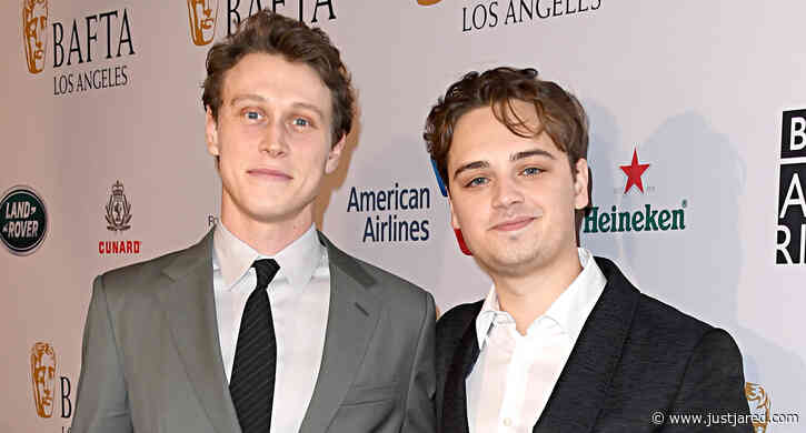 George MacKay Joins '1917' Co-Star Dean-Charles Chapman at the BAFTA Tea Party