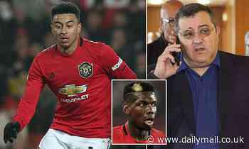 Manchester United star Jesse Lingard working with super-agent Mino Raiola