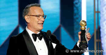 Tom Hanks at the Golden Globes: Don't Be Late