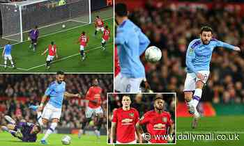 Manchester United 1-3 Manchester City: Pep Guardiola's side have one foot in Carabao Cup final