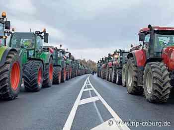 *** Kronach: Söder kommt - Bauern demonstrieren