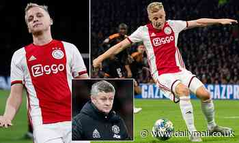 Manchester United lining up move for Donny van de Beek'as cover for Paul Pogba