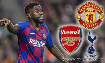 Barcelona star Samuel Umtiti is 'targeted by Premier League clubs' as Man United and Arsenal circle