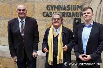 Helmut Markwort besucht seine frühere Schule in Coburg