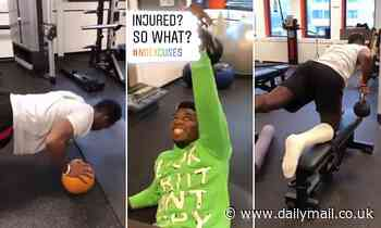 Manchester United midfielder Paul Pogba begins road to recovery in gym following ankle surgery