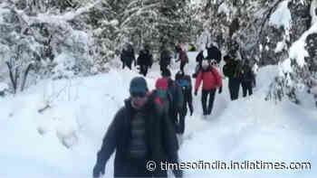 Pre-training of CAPF Mountaineering Expedition 2020 begins in Uttarakhand's Auli