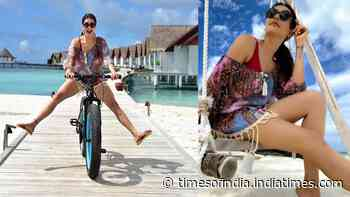Karishma Tanna looks breathtaking as she shares throwback pictures from her exotic Maldives vacation