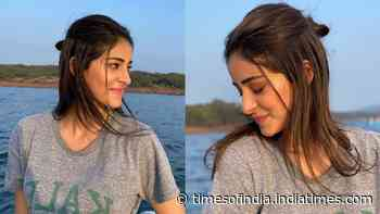 Ananya Panday enjoys a boat ride in Mahabaleshwar, shares pictures flaunting her new nosepin
