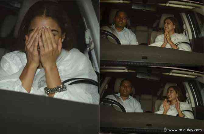 Inside Pictures: Fans and Paparazzi go crazy for Sara Ali Khan, leave actress flattered