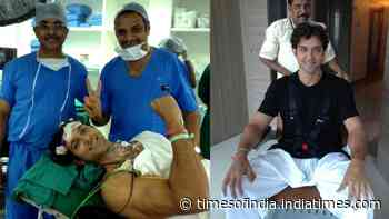 Hrithik Roshan's mom Pinkie Roshan shares never before seen images of son from his brain surgery, pens emotional note with 'heavy heart'