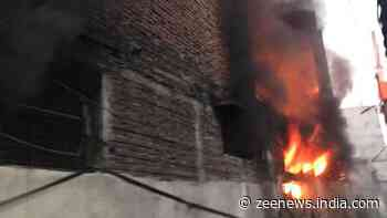 Fire breaks out at a shoe factory in Delhi`s Mayapuri; fire tenders rushed to spot