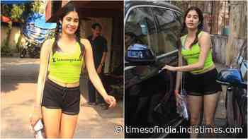 Janhvi Kapoor gives out major hot and cute vibes as she hits the gym in braided hairdo