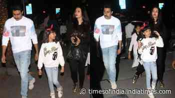 Aishwarya Rai Bachchan, Abhishek Bachchan and Aaradhya Bachchan look their casual best as they step out for a weekend dinner