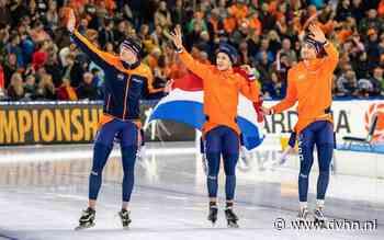 Kramer, Roest en Bosker brengen Nederland in Thialf opnieuw EK-goud op ploegenachtervolging