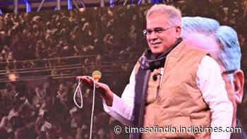 Watch: Chhattisgarh CM Bhupesh Baghel spins top during a programme