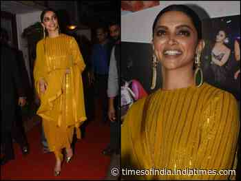 DP looks gorgeous in a yellow ethnic outfit