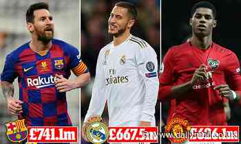 Man United still top in Deloitte Football Money League but City and Liverpool are closing in