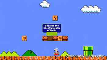 Delhi election 2020: Arvind Kejriwal becomes Mario, highlights achievement in video
