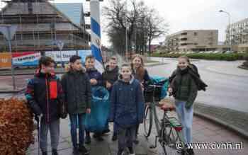 Brugklassers in Beilen maken korte metten met zwerfafval rondom eigen school