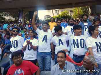 Anti-CAA protest reaches Mumbai`s Wankhede Stadium during India-Australia ODI
