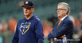Astros Manager and G.M. Fired Over Cheating Scandal