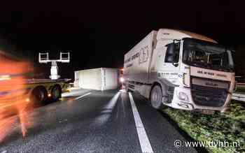 A7 bij Leek richting Groningen is dicht na ongeluk met vrachtwagen