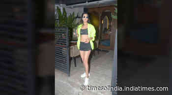Sonal Chauhan steps out in the neon trend