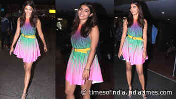Pooja Hegde doles out major style goals in this multi coloured dress
