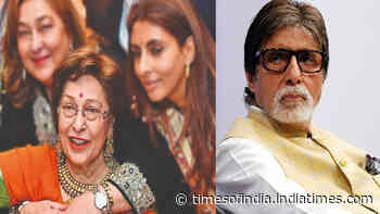 Amitabh Bachchan pens down a heartfelt post mourning Shweta Bachchan's mother-in-law Ritu Kapoor Nanda's demise