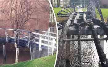 Brug in Lewenborg in Groningen in vlammen met oud en nieuw: schade 60.000 euro