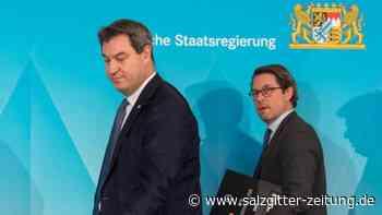 Umfrage-Schlusslicht Scheuer: Söder ist offen für Austausch der CSU-Bundesminister