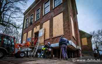 Bijzondere aardbevingspreventie: Deze eeuwenoude borg in Groningen is anderhalve meter van de grond getild