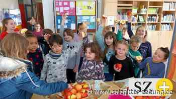 In der Grundschule Abbensen ist donnerstags Apfeltag