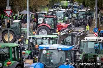Bauern-Demo legt Verkehr in Franken lahm - Polizei rechnet mit Behinderungen in zahlreichen Gemeinden