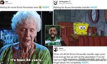 Man United fans driven crazy on Twitter waiting for Bruno Fernandes deal to get over the line